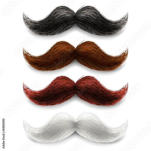 Canvastavla Fake moustaches color set