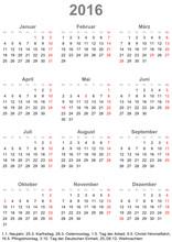 Kalender 2016 Einfach Mit Gese...