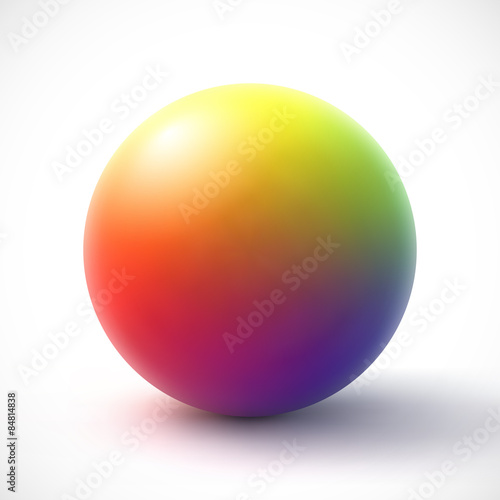 Fotografía  Colorful sphere on white background