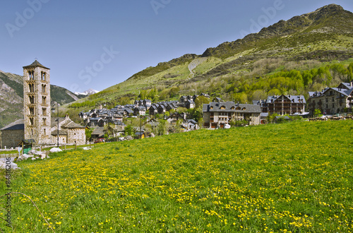 Tahull village in Valley of Boi in Catalonia