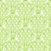 Vector Seamless Repeating Pineapple Pattern On White Background