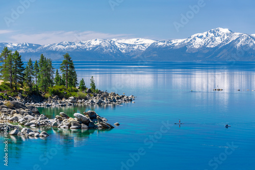 Photo Stands Paddle boarding Lake Tahoe