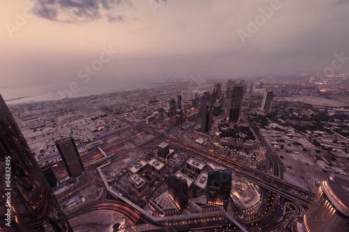 Photo  Dubai night skylin