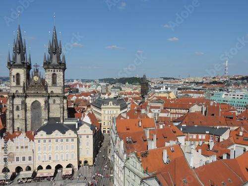 Staande foto Praag Vue aérienne de la vieille ville de Prague