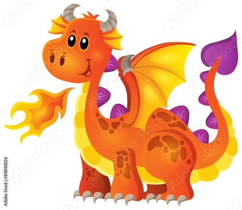Image with happy dragon theme 4