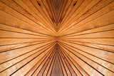 Symmetry and perspective abstract wooden background. - 84847655