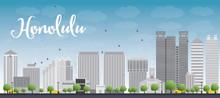 Honolulu Hawaii Skyline With G...
