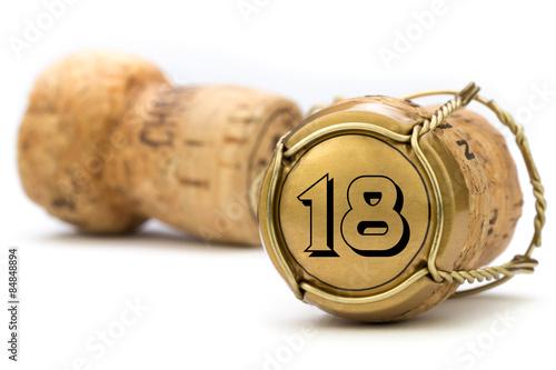 Photographie  Champagnerkorken Jubiläum 18 Jahre