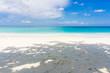 Tropical beach with blue Sky and sea.