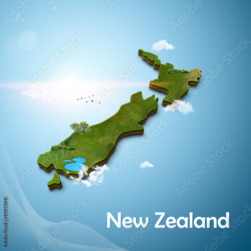 3d Map Of New Zealand.Realistic 3d Map Of New Zealand Buy This Stock Illustration And