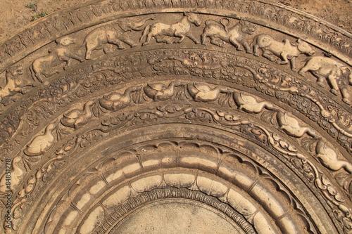 Fotografia, Obraz  Details of a beautiful carved moonstone