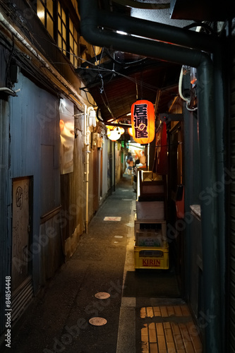 Small alley located Kichijoji in Tokyo Japan.
