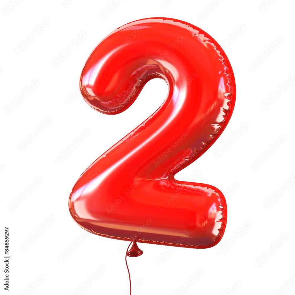 Fototapeta balloon font number 2