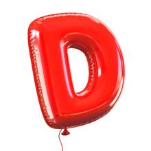 Balloon Font Letter D