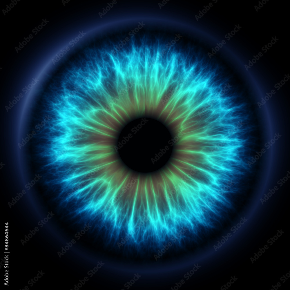 Fototapeta Abstract blue eye