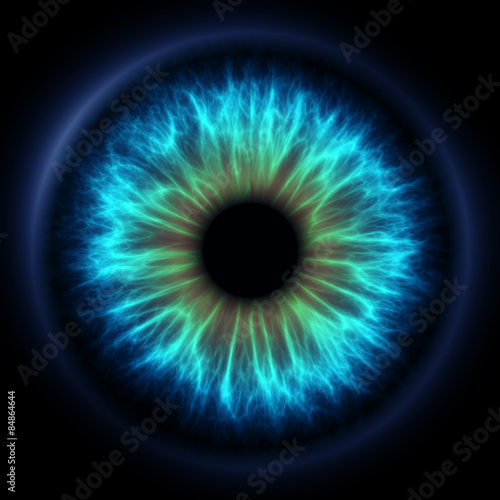 Abstract blue eye Fototapeta