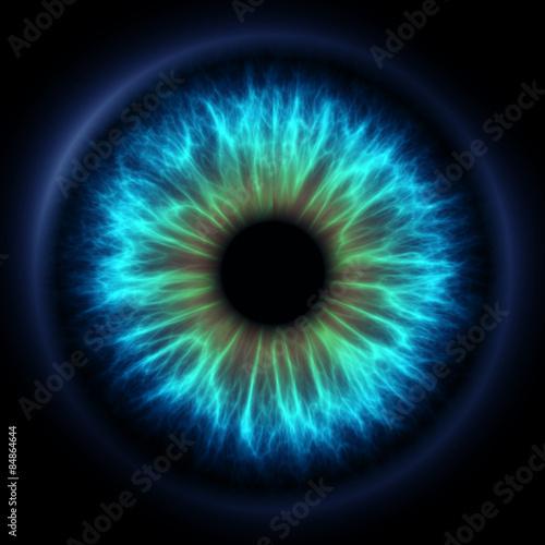 Obraz Abstract blue eye - fototapety do salonu