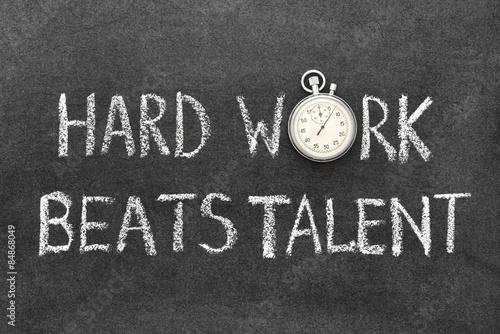 hard work beats