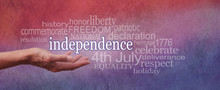 Independence Day Red White And Blue Banner