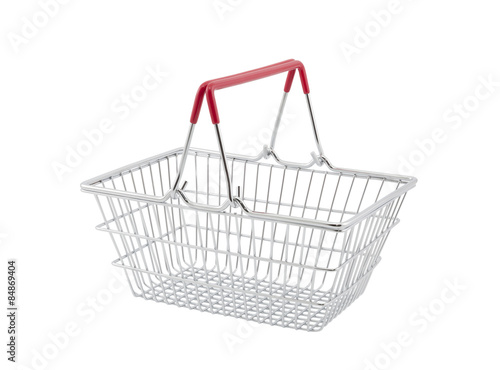 Fotografija  Shopping basket isolated on white background with clipping path