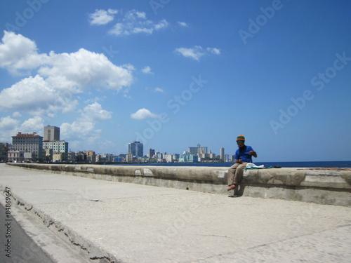 Fotobehang Antarctica Malecon in Havanna