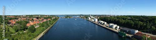 Fototapeta Blick über Kiel obraz na płótnie