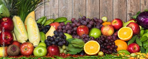 Foto op Aluminium Vruchten Tropical fruits and vegetables organics for healthy