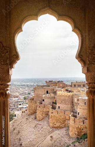 Foto auf Gartenposter Befestigung Jaisalmer fort view