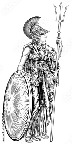 Fotomural Athena Greek Goddess