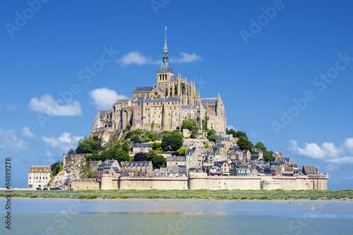 View of famous Mont-Saint-Michel Canvas