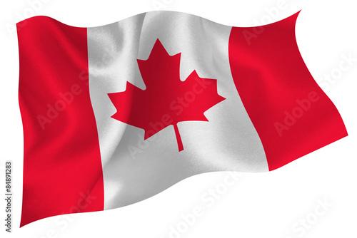 Obraz na płótnie カナダ  国旗 旗