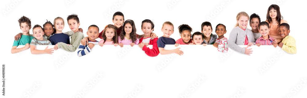 Fototapety, obrazy: Group of children