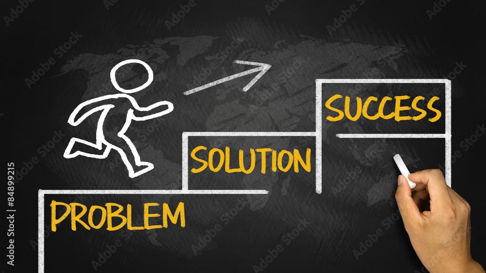 Fototapeta business concept:problem solution success