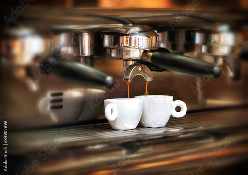 Photo  Italian espresso machine in a restaurant