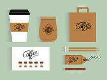 Mockup. Coffee Shop Elements. ...