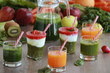 Fresh vegetables, fruits,juice and smoothie