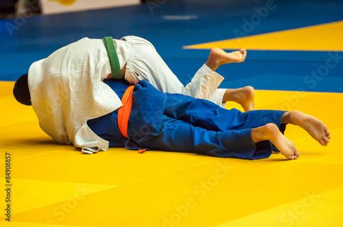 obraz dibond Judo konkurencja młodzieży
