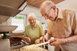 Elderly couple in the kitchen