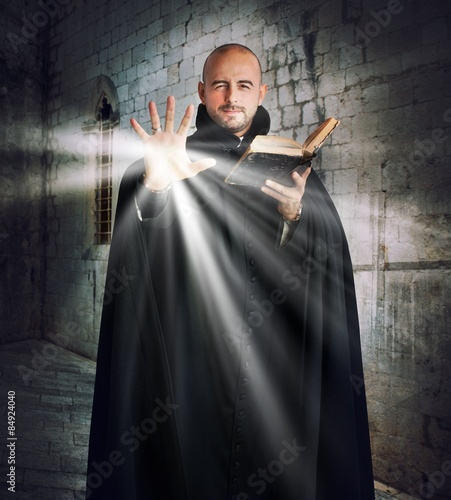 Photo Priest gives off light