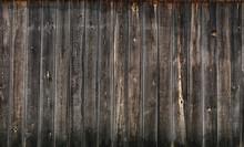 Dark Gray Wooden Boards Wall Texture