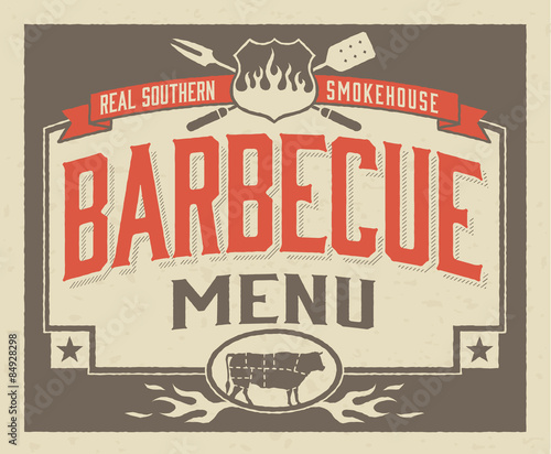 genuine southern barbecue menu template buy this stock vector and