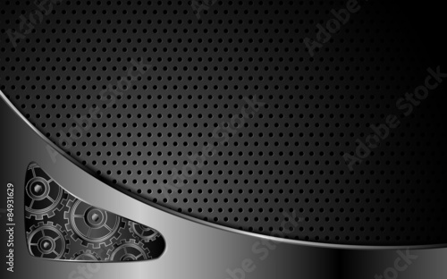 Photo  vector abstract steel texture system working concept background