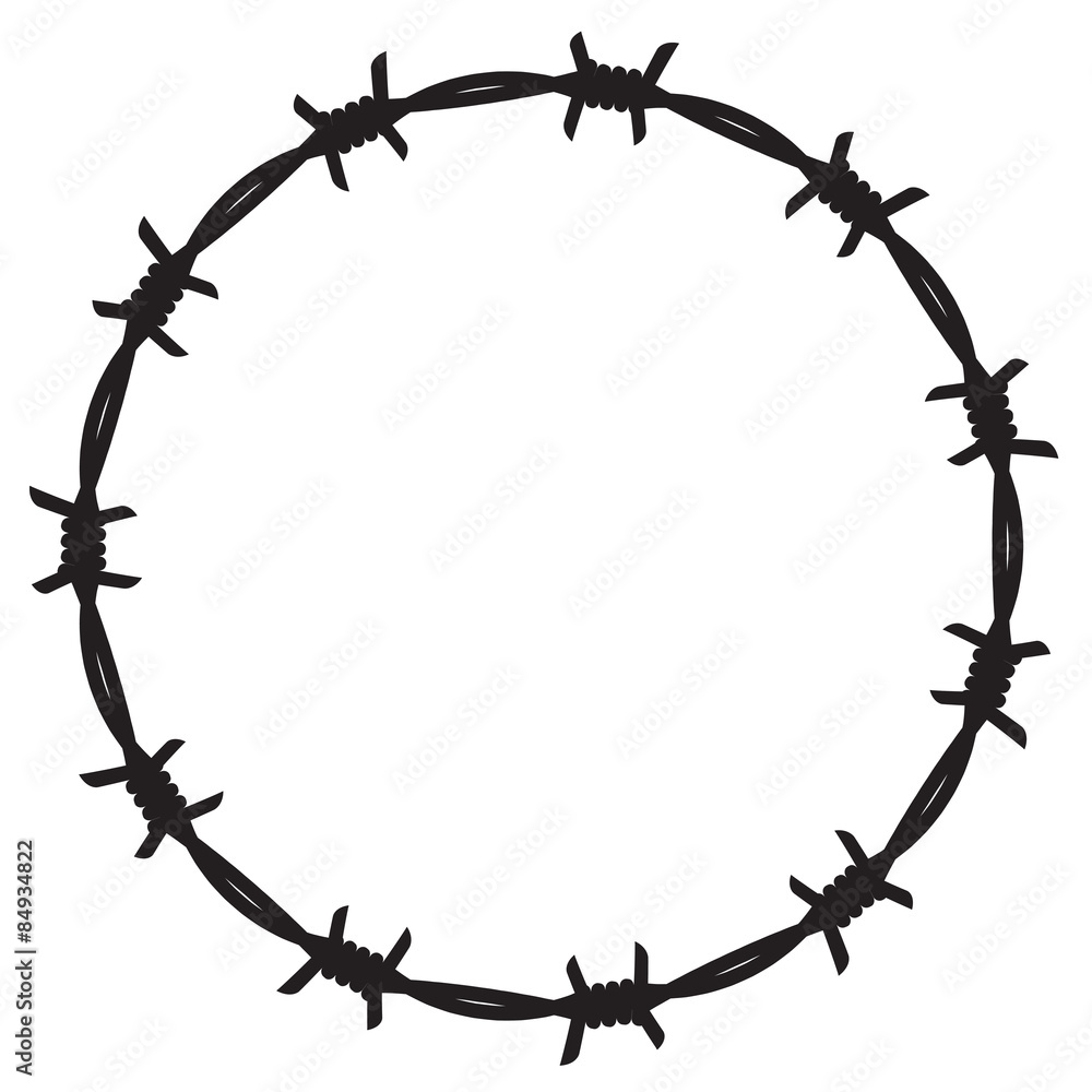 Fototapeta Frame barbed wire