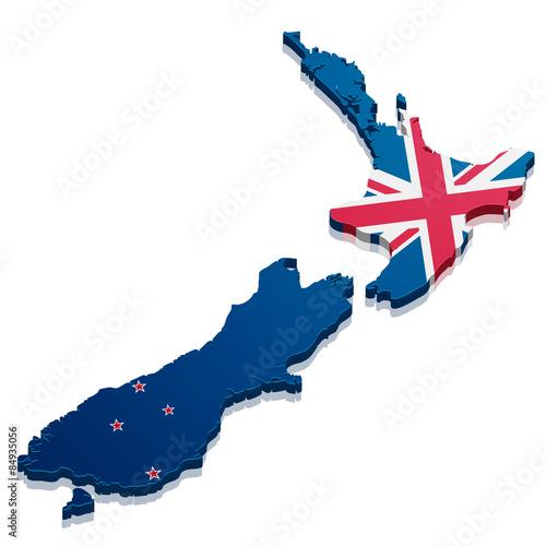 Photo Map New Zealand