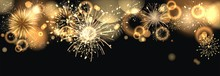 Hintergrund Mit Feuerwerk