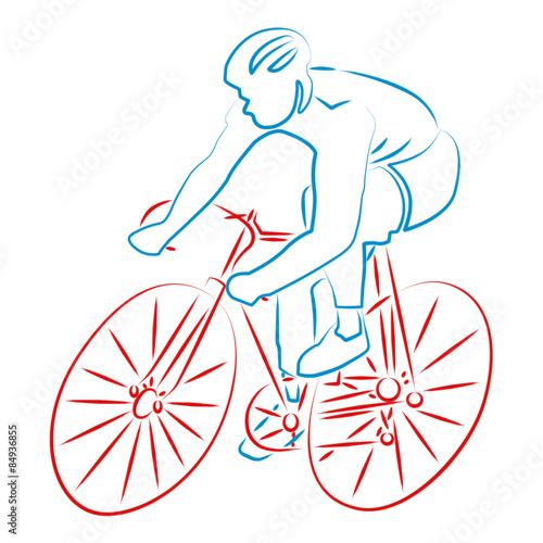 Foto op Canvas Fietsen Cyclisme