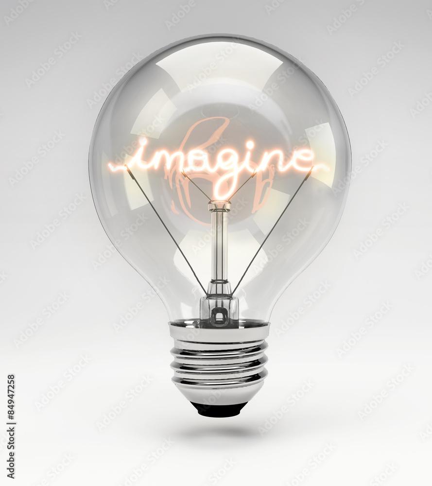 Fototapety, obrazy: Conceptual Light Bulb (Set) - Imagine