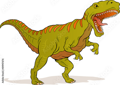 T-Rex dinosaur illustration Poster