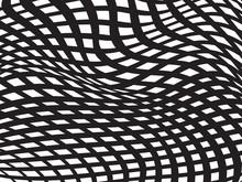 Pattern Black White Optical Design Background Vector