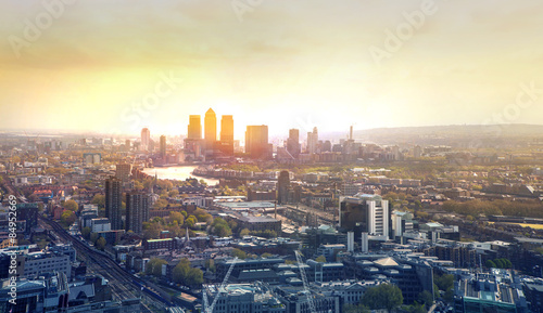 Photo LONDON, UK - APRIL 22, 2015: City of London panorama